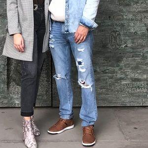 2/$25 Abercrombie Men's Ripped Slim Stretch Jeans